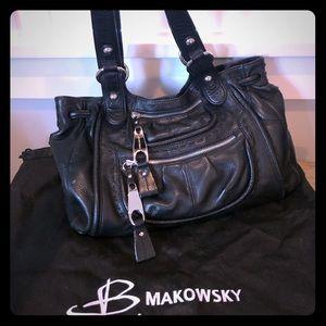 B Makowsky must-have shoulder bag.